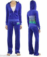NWT JUICY COUTURE Choose Couture Bling  Velour Hoodie Pants Set Tracksuits