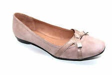 NEW WOMENS LADIES HUSH PUPPIES PEACH LEATHER SUEDE CASUAL FLAT EVERYDAY SHOES