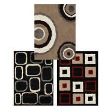 "Modern Abstract Shag 7x10 Area Rug Contemporary Shaggy Carpet - Actual 6'6""x9'8"""