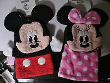 MiNNie MoUSe~PiNk~Face~OR~MiCkEy MoUsE~FaCe~PuPPeT~8 x 5~BATH MITT~Disney Store