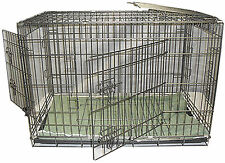 3 Door Heavy Duty Galvanised Dual Coated Dog/Puppy Cages (strongest on Ebay)