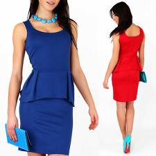 ☼ Cocktail Womens Vest Dress ☼ Tunic Style Scoop Neck Sleeveless Size 8-12 FA118
