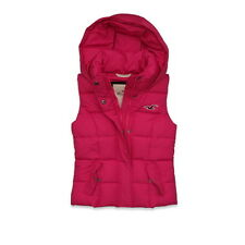 Hollister Abercrombie Fitch Womens Vest Gilet Hoodie Pink Winter Jacket Hermosa