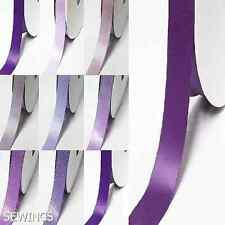 "Double Faced Satin Ribbon 5/8"" /16mm. per 5 Yards, Lilac purples color for bow"