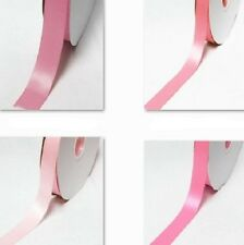 """DoubLe Faced Satin Ribbon 1"""" /25mm. WhoLesaLe 100 Yards ALL Pink s to Choose"""