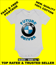 BABY ONE PIECE, ROMPER. ONESIE. printed with FUTURE BMW DRIVER brand new