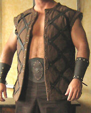Medieval Armor Short Sleeveless Gambeson Deluxe Leather