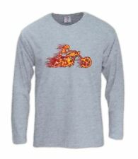 Flame Biker Long Sleeve T-Shirt Choppers Motorcycle fire bikers riders