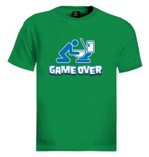 Game Over Toilet T-Shirt Drunk drinking beer funny WC