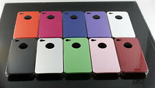 CLASSIC SHINY SERIES PLAIN HARD CASE BACK COVER BUMPER GUARD FITS IPHONE 4 & 4S