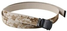 "web belt military style desert digital camo 54"" long reversible rothco 4682"