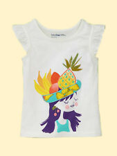 NEW GAP EMBROIDERED FLUTTER TEE TOP SIZE 18-24M 2T 3T 4T 5T