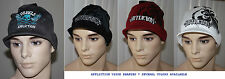 AFFLICTION Men's Thinly Ribbed Visor Beanie Hat Sz OS NWT several colors **
