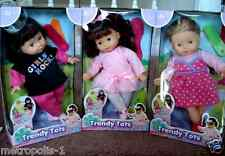 "TRENDY TOTS,STYLISH 12"" GIRL DOLL,WITH HAIR BRUSH,COMB SET,3 STYLES,KIDS 2+,NEW"