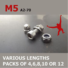 M5 Allen Socket Cap Head Bolts, Nuts & Washers. A2-70 Stainless Steel.