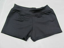 GYMNASTIC DANCE SHORTS BLACK RED WHITE NAVY TEAL GREEN CXS CS CM CL NWOT