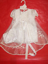 BNWT GIRLS 3 PIECE WHITE CHRISTENING/PARTY DRESS - SIZE 0000 TO 1