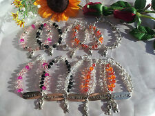 Cancer Awareness Swarovski Crystal Bracelets You Pick Type Any Size