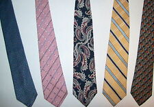 David Taylor, Izod, Stafford, Nautica, Geoffrey Beene - Men's 100% Silk Ties