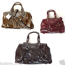 $358 NWT Coach Ashley Genuine Patent Leather Satchel F20460 21042 Handbag