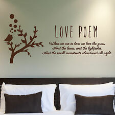 LOVE QUOTE, Love, Large Wall Sticker, Decal, Wallart, SS242