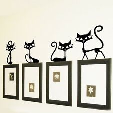 Wall Stickers  Removable Cute Lovely Cat Party Home Mural Decals Decor Art