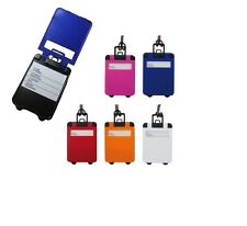 Luggage Label Tag in the Shape of Suitcase - 5 colours - Free Post