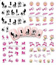 Barbie Girl Girly Water Transfer Nail Art Decorative DIY Decals Seals Stickers