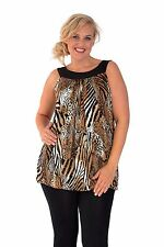 New Womens Sexy Animal Sequin Sleeveless Stretch Party Top Nouvelle Plus Size