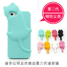 Cute KiKi Cat Silicone Soft Case Cover Skin for Apple iPhone 5 + Anti-dust Cover