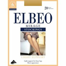 Elbeo Mirage factor 6 light support stockings in barely black & cafe creme