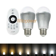 2X 2.4G Wireless E27 6W LED Bulb Dimmable 3000K-6500K White & Touch Remote Contr