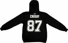 Sidney Crosby Reebok Men's Black Name & Number Hooded Sweatshirt