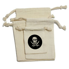 Pirate - Birthday Boy Halloween Muslin Cotton Gift Party Favor Bags
