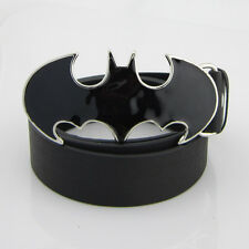 New Western Costume Black Batman Superhero Mens Metal Belt Buckle Leather Gift