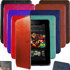 ULTRA SLIM Auto Sleep LEATHER CASE COVER HARD SHELL for KINDLE FIRE HD 7'' +SP