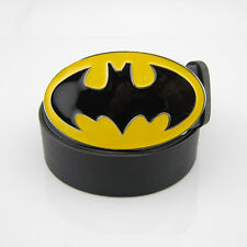 New Western Costume Yellow Batman Superhero Mens Metal Belt Buckle Leather Gift