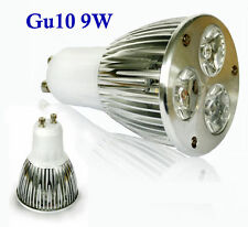50 X GU10 base 9W Power bulb CREE LED lamp Indoor light spotlight 3X3W Red white