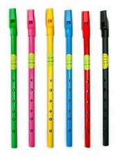 Irish Tin Whistle - Waltons Colourful Rainbow - Blue Red Yellow Black Green