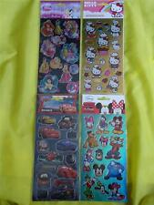 DISNEY FOIL STICKERS - PRINCESS/CARS/MICKEY MOUSE & HELLO KITTY - PARTY BAG TOYS