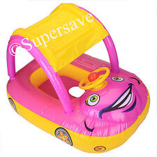 Swimming Seat Boat baby kid child aid ring float pool inflatable Duck / Horn Car