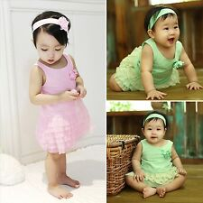 "3 pcs NWT Vaenait Baby Infant Girl Ouftfit Dress+Pantie+Headband Set ""Ballerina"""