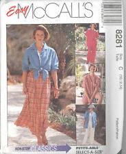 McCall's 8281  Misses' Shirt-Jacket, Pull-On Pants or Shorts and Skirt