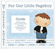 Page Boy Gift: Nursery Rhymes PAGE BOY Wedding Present-Personalised Gifts 4 Kids