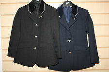 Sherwood PERLINO SHOW or JUMPING RIDING JACKET- Childs 22 24 26 28 30 BLACK/NAVY