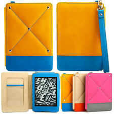FASHIONABLE  COVER CASE for KINDLE PAPERWHITE YELLOW BLUE AUTO SLEEP +SP