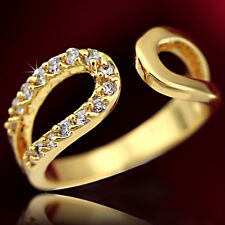 9K GOLD GF R91 INFINITY PAVE ROUND CUT DIAMONDS LADIES SOLID DRESS BAND TOE RING