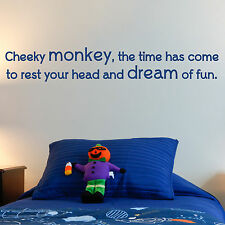 CHEEKY MONKEY, LARGE WALL STICKER, Children, Kids, Dream, WallArt, SS489