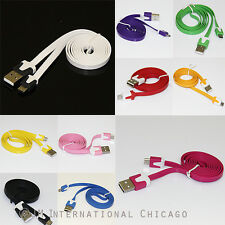 Micro USB 2.0 Data Sync Charger Slim Flat Noodle Cable 3ft Galaxy S3 S4 LG G3 G2