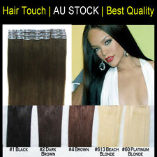 "24"" Clip In 100% Russian remy Human Hair Extensions Great Thinkess Long Lasting"